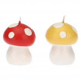 "Set 2 mushroom-shaped candles ""Bosco incantato"""