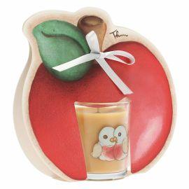 """Candela con mela """"Frutti rossi"""" - cannella"""