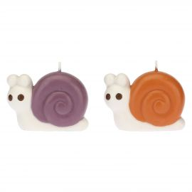 "Set 2 snail-shaped candles ""Bosco incantato"""