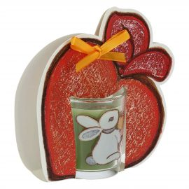 Candle with apple pack Folk - jasmine