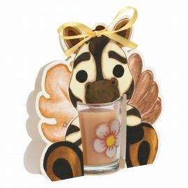 Savana story candle with zebra - ebony