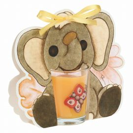 Savana story candle with elephant - honeysuckle