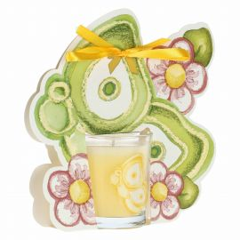 Kerze Colour Your Easter Schmetterling mit Blumen – Granatapfel