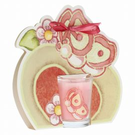 Colour Your Easter butterfly candle with heart - flower essence