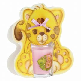 We Are Jungle butterfly candle with leopard - pineapple