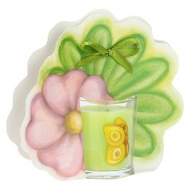 We Are Jungle butterfly candle with flower - tropical flower