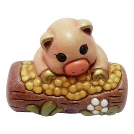 Pig with manger for Traditional Nativity Scene