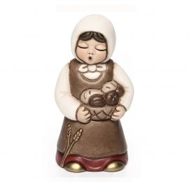 Red woman with bread basket Jubilee Crib
