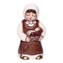 Donna con cesta di pane Presepe Giubileo variante bianca