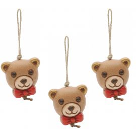 Pack 3 gift charms Teddy
