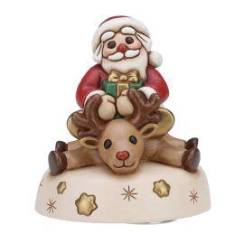 Carillon in ceramica Babbo Natale