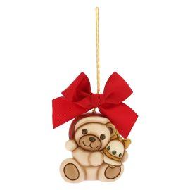 Addobbo per albero di Natale Teddy grande con campanella