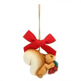 Small Christmas decoration squirrel with blackberry
