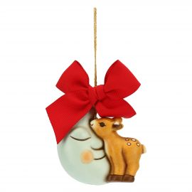 Small Christmas decoration fawn and moon