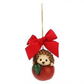 Addobbo natalizio riccio e mela