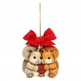 Maxi Christmas decoration squirrels with hearts