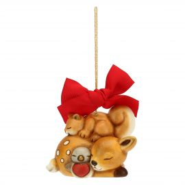 Maxi Christmas decoration squirrel, fawn and robin