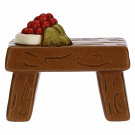 Table with fruit for the Traditional Nativity Scene