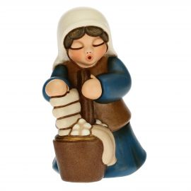 Washerwoman for the Traditional Nativity Scene, blue version