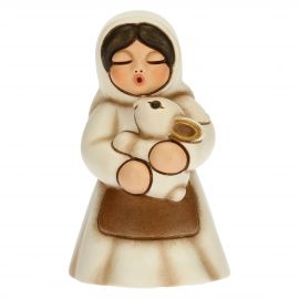 Woman with rabbit Traditional Nativity scene, white version
