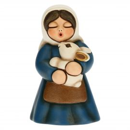 Woman with rabbit Traditional Nativity scene, blue version