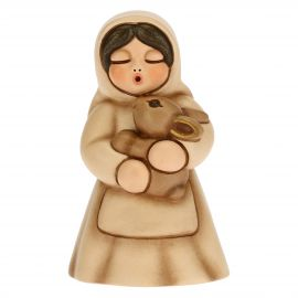 Woman with rabbit Traditional Nativity scene, beige version