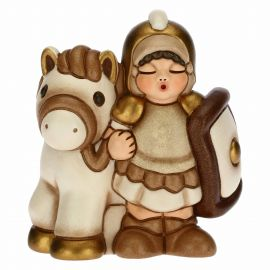 Soldier with horse for the Traditional Nativity Scene, white version