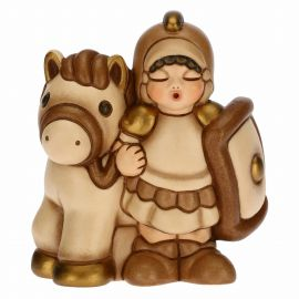 Soldier with horse for the Traditional Nativity Scene, beige version