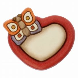 Country heart magnet with butterfly