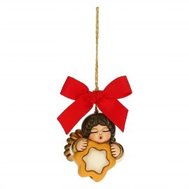 Small angel with star Christmas tree decoration