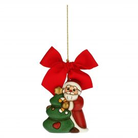 Father Christmas with tree Christmas tree decoration