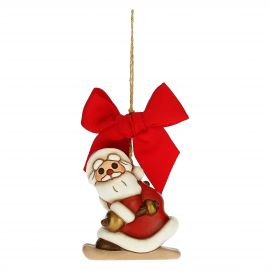 Father Christmas on skis Christmas tree decoration