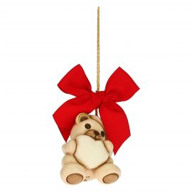 Teddy with heart Christmas tree decoration