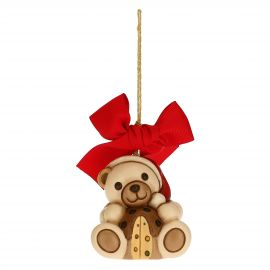 Teddy with panettone Christmas tree decoration