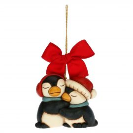 Pair of penguins Christmas tree decoration
