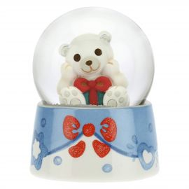 Glass snow globe with Paul the Polar Bear