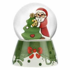 Glass snow globe with Father Christmas