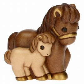 Presepe Classico horse with foal