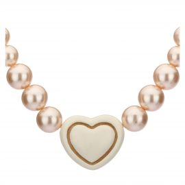 Old classic l'amour necklace with white heart