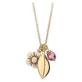 Necklace Crystal Leaf
