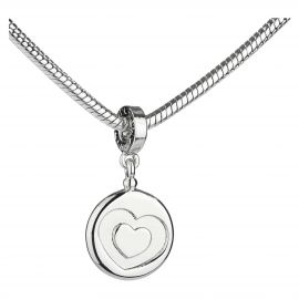 "Charm Message ""Love"" with heart"