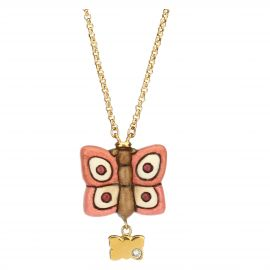"""Farfalle in Festa"" gold-plated Current Mamma necklace"