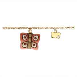 """Farfalle in Festa"" gold-plated Current Mamma bracelet"