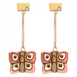 """Farfalle in Festa"" gold-plated Current Mamma earrings"