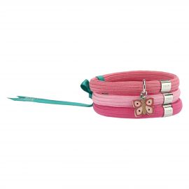 "Elastisches Armband in Rosa Impulse ""Farfalle in festa"" mit Schmetterling"