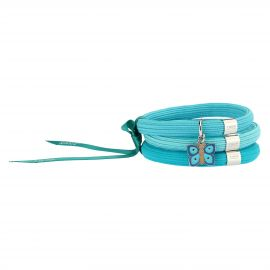 "Elastisches Armband in Blau Impulse ""Farfalle in festa"" mit Schmetterling"