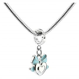 Baby boy heart Mom charm