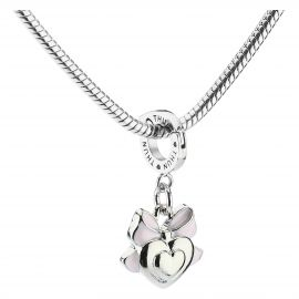 Baby girl heart Mom charm