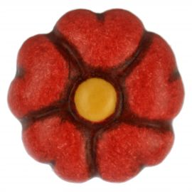 Red primrose Basic single earring