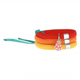 Savana story Impulse coloured elastic bracelet with ladybird